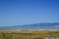 Owens Lake viewed from the town of Keeler once Cerro Gordo Landing