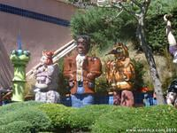 Nearby colorful statues, also on Spruce Street.