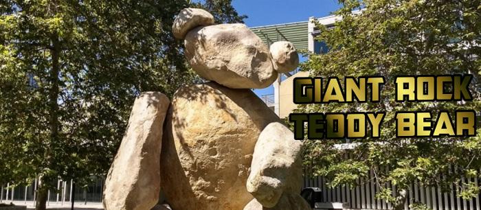Giant Rock Teddy Bear