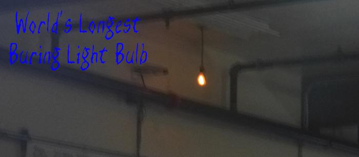 Longest Burning Light Bulb in the World
