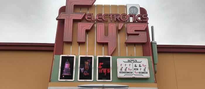 Two Giant Slot Machines
