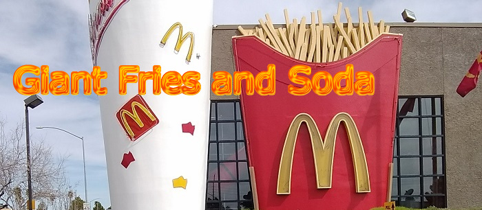 Giant Fries and Soda